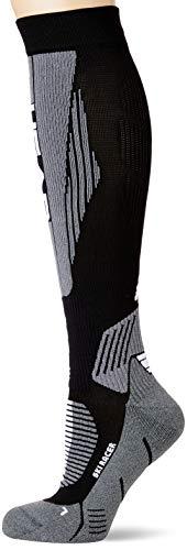 Head Racer Kneehigh Ski Socks (1 Pack) Calze da Sci, metà Grigio Nero, 43 46 Unisex-Adulto