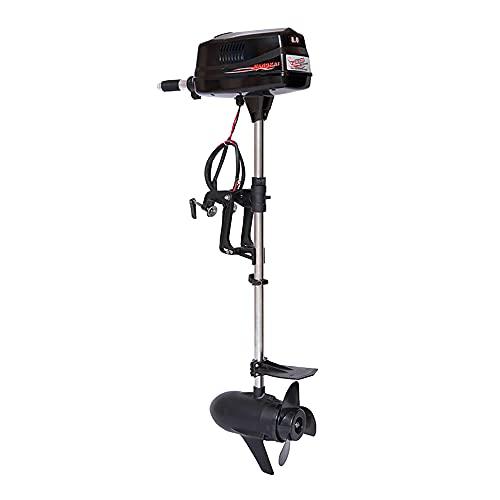 OUKANING Aussenborder Elektromotor 2200W Trolling Motor 3000 U / min salzwassertauglich für Angeln, Aquakultur, Outdoor Abenteuer (48V)