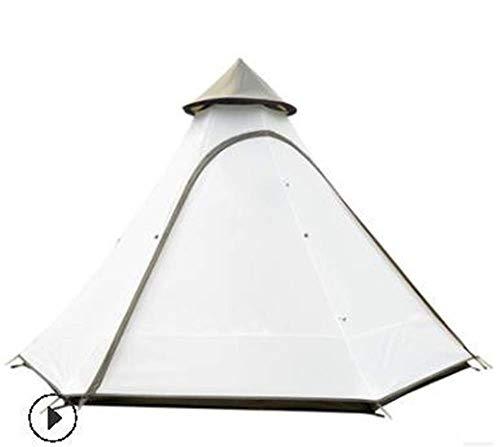 Yuany 2019 3-4 Personas Pirámide Varilla de Aluminio Impermeable Familia Tipi Fiesta Gazebo Conducción Sun Shelter Beach Toldo Tienda de campaña al Aire Libre
