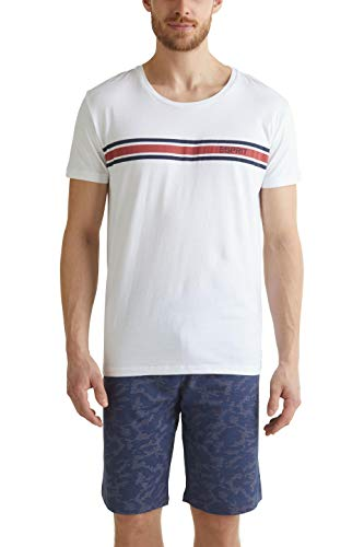 ESPRIT Bodywear Herren Aldred NW Pyjama Pyjamaset, 401/NAVY 2, L