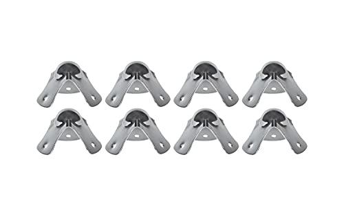 HMF 14950-09 - Esquinas de acero galvanizado, 8 unidades, 49 mm, color plateado