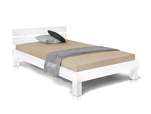 Massivholzbett Pumba Holzbett Doppelbett, Material Massivholz, Made in Germany, 140x200 cm, Weiss