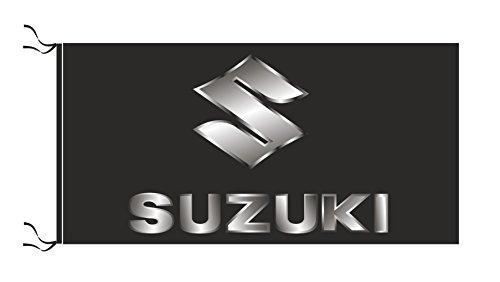 Suzuki Flagge Schwarz
