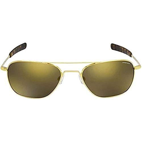 Randolph Aviator 23 K Gold Bayonet Temple Glass Gold Flash Espejo gafas de sol no polarizadas