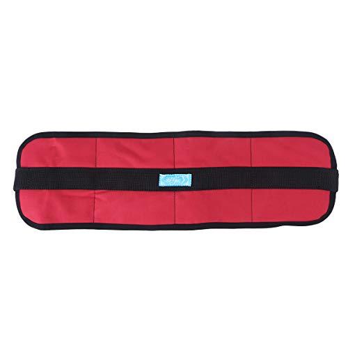 Healifty Widen Rollstuhl Sicherheitsgurt Rückhaltegurt (rot)