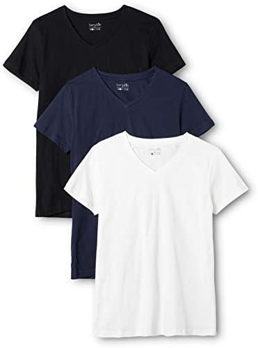 Berydale Camiseta Mujer Cuello Pico, Pack de 3