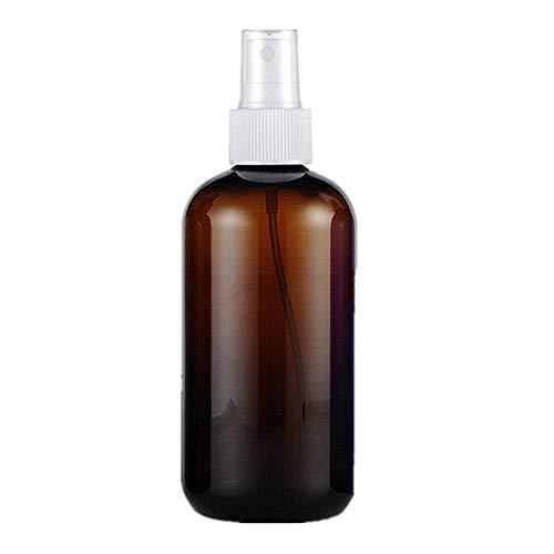 HEELPPO Flacon Spray Vide Spray Vide Spray Bottle Flacon Vide Recipient Cosmetique Fuite Preuve Pulvérisation Bouteille Liquide Vaporisateur Vaporisateur Vide Bouteille Brown+White Nozzle