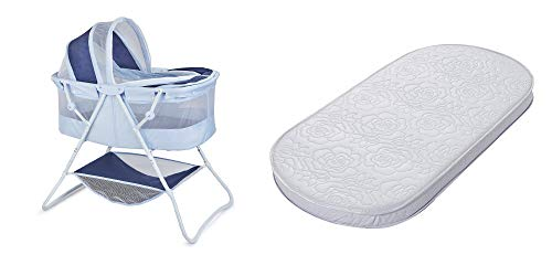 Product Image of the Big Oshi Waterproof Oval Bassinet Mattress and Portable Indoor/Outdoor Bassinet,...