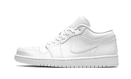 Nike Air Jordan 1 Low, Zapatillas de bsquetbol Hombre, Blanco, 47 EU