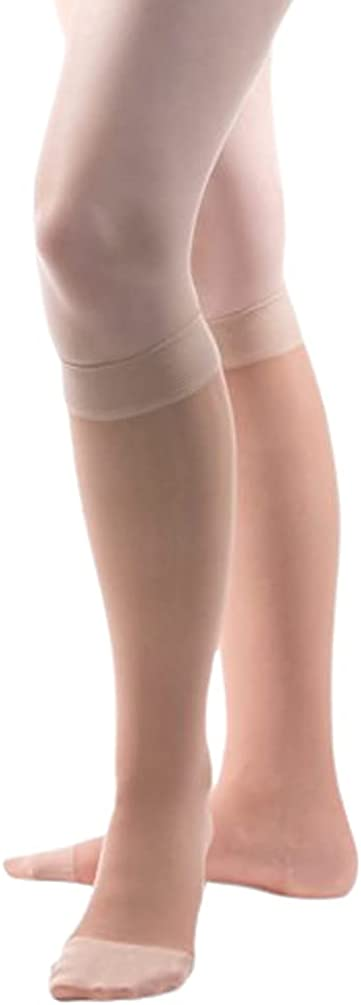 Allegro Genuine 8-15 mmHg SEAL limited product Essential 81 High Knee Support Compressi Sheer