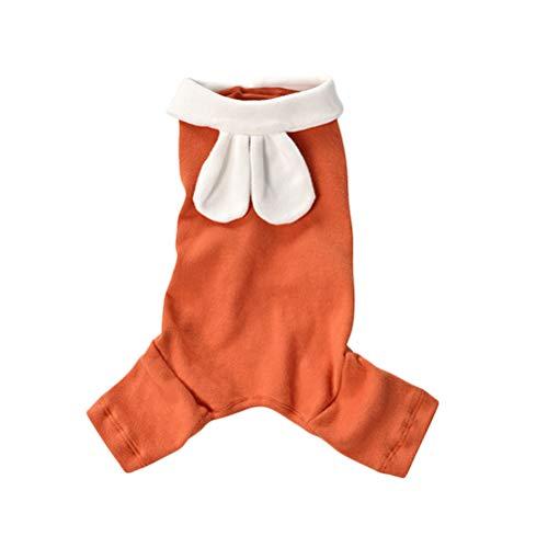 VILLCASE 1pc Abrigo clido de Cuatro Patas para Mascotas Ropa cmoda Disfraz de Mascota para Cachorro Tamao L (Naranja)- Suministros de Mascotas