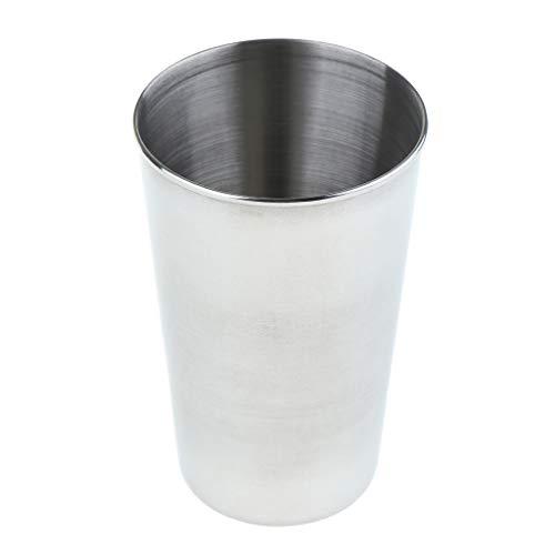 Fenteer Vasos de Agua de Taza de Cerveza de Acero Inoxidable de 430 Ml para Cócteles, Café, Batidos Y Más