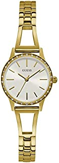 Guess Dress Watch for Women, Stainless Steel Case, White Dial, Analog -GW0025L2