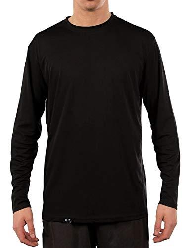 Camiseta UV Protection Masculina UV50+ Tecido Ice Dry Fit Secagem Rápida M Preto
