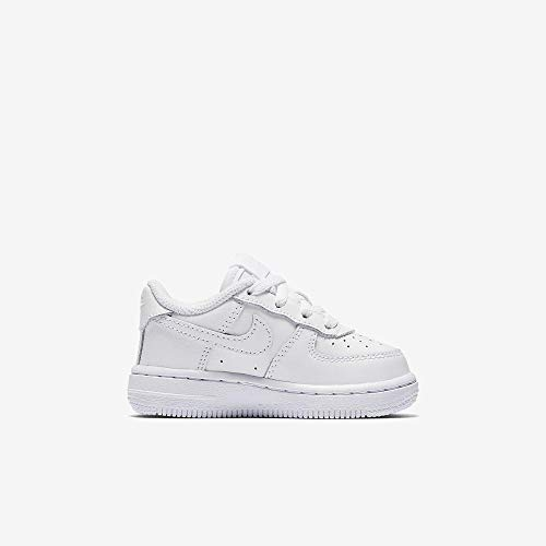 Toddlers Force 1 (TD) White/White/White Basketball Shoe 5 Infants US