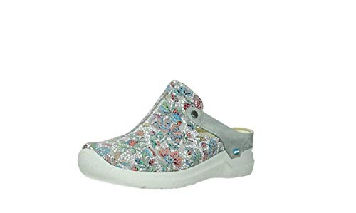 Wolky Comfort Clogs Holland - 42157 Taupe mosaik Veloursleder - 41