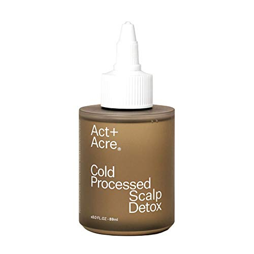 Act+Acre Cold Processed Scalp Detox | Scalp Care Oil for Healthy Hair (3 Fl Oz / 89 mL) Moisturizer for Dry Itchy Scalp, Hair Growth Oil for Thinning Hair, All Natural Psoriasis and Dandruff Treatment
