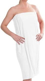 DII Women's Adjustable Microfiber Plush Spa Bath Shower Wrap For College Dorms, Pools, Gyms, Beaches, Locker Rooms, Bathroom (55.5 x 32.5