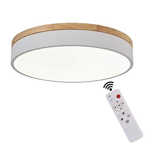 OYIPRO LED Deckenleuchte mit Fernbedienung Dimmbar Deckenlampe 40W Φ50cm Nachtlicht Funktion Acryl Lampenschirm für Wohnzimmern Schlafzimmern Küche Flur