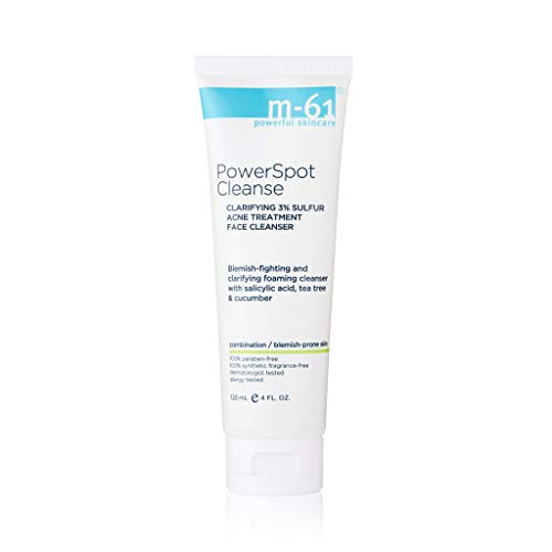 M-61 PowerSpot Cleanse, 4 oz -Medicated, 3% sulfur acne-fighting cleanser with salicylic, glycolic, witch hazel & tea tree