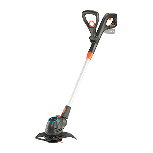 GARDENA 14701-55 Akku-Trimmer ComfortCut 23/18V P4A solo, 18 V, Schwarzanthrazitgrautürkisorange, Schnittbreite 23cm | 18V Power for All
