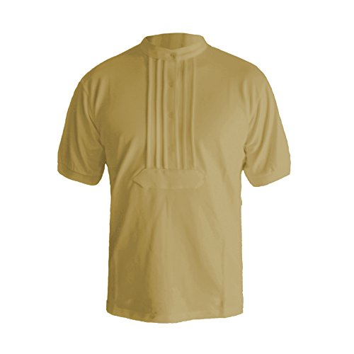 Eiko Zunft-Polo-Hemd, 100% Baumwolle, halbarm (S, beige)
