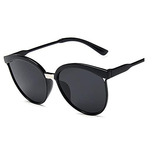 IRCATH Fashion Cat Eye Glasses Mujeres Hombres espejuados Gafas de Sol Señoras Gafas Retro Gafas Gafas Eyewear UV400 Adecuado para Conducir Playa Trekking Party-C2 Adecuado para Conducir en la Playa