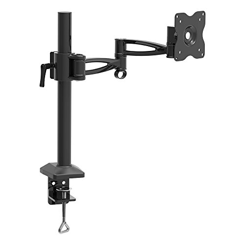 Barkan Monitor Desk Mount for Flat/Curved Screens Sizes 13-29 inch, Full Motion - 5 Movements, Ergonomic, 360 Degree Rotation, Touch & Tilt, Holds up to 13 lbs