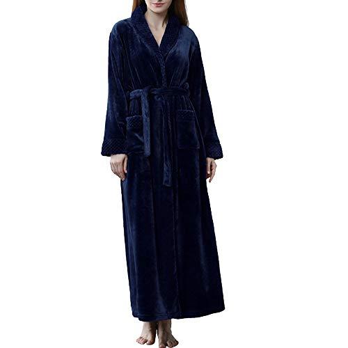 BAYUE MoneRffi Winter Dikke Warm Badjas Vrouwen Mannen Koraal Fleece Kimono Robe Nachtjapon Badjas Losse Zachte Lange Nachtkleding