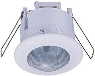 ZEYUN - Detector de Movimiento Empotrable por infrarrojos para Interior(montaje en techo, sensor de movimiento por infrarr...