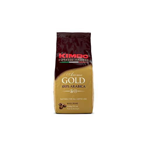 Kit de Paquetes de Granos de Café Kimbo con 2 x Gold 100% Arabica - 2 Bolsas de 1kg