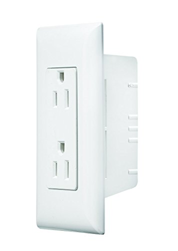 RV Designer S831, Self Contained Wall Switch with Cover Plate, White, AC Electrical