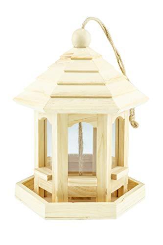 Clever Creations Bird Haus - Gazebo in Legno per nutrire Uccellini - da Appendere - Ideale Anche Come Decorazione Esterni