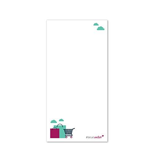 1blocco note per lista della spesa con dorso magnetico I dv_169 I 10 x 20 cm I 50 fogli I Set  prestampato per la cucina con fogli di carta da strappare