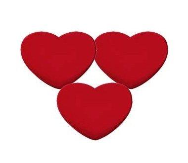 Pro 3 del corazón Tenis roja Antivibradores