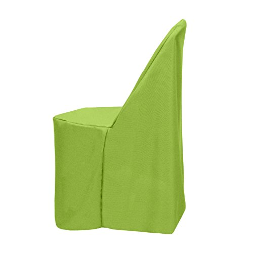 Ultimate Textile -5 Pack- Polyester Folding Chair Cover - for Metal or Plastic Folding Chairs, Lime Green