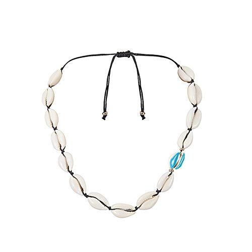 Drawihi. Collar Conchas Mujer Conchas de Playa Natural Collares Bohemio Mujer Joven Retro para Mujeres y Niñas