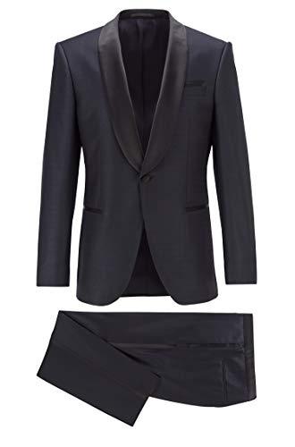 BOSS Herren Dreiteiler Anzug Henry3/Glow2 Blau 52