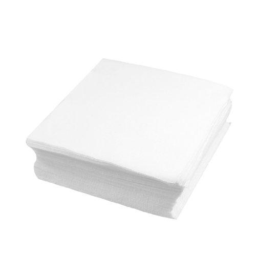 sourcingmap® 100 x toallitas para salas limpias blanco paño limpio antipolvo de 6