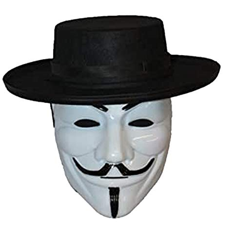 The Dragons Den V for Vendetta chapeau et masque l'anonymat