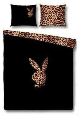 Unbekannt Playboy Bettwäsche Bunny Leopard Satin glatt 135 x 200 cm Geschenk NEU Wow - All-In-One-Outlet-24 -