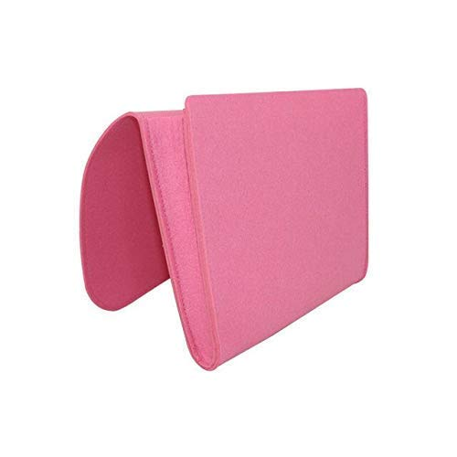N-K PULABO Bedside Storage Bag, Remote Control Hanging Bag Felt Pocket Organizer Small Things Holder_Pink Durable and Useful Economic