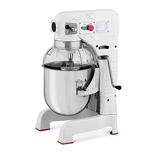 Royal Catering Amasadora Batidora De Cocina RCPM-30WP (Recipiente descendente, Motor: 1.100 W, Volumen: 30 L, Velocidad: 140 / 230 / 543 rpm)