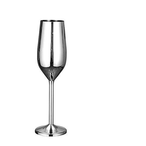 SXCYU 200 ml bruiloft rode wijnglas zoete huis glas roestvrijstalen champagne glazen beker valbestendig Europees bubbelglas, lichtgroen