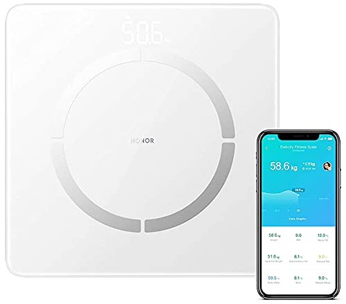 Escala de honor 2 2 Smart Digital Bluetooth Bluetooth Scale para el analizador de composición con la aplicación inteligente para el peso, el IMC, la masa muscular