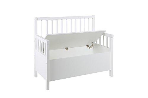 AC Design Furniture Bank Thomas, B: 90 x T:48 x H: 85 cm, MDF, Weiss - 3