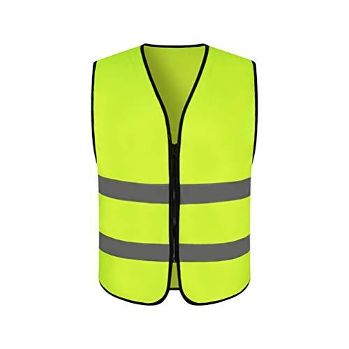 Tianbi Gilet Riflettente Gilet di Sicurezza Gilet con Strisce Riflettenti con Cerniera Gilet Traspirante per Aumentare La Visibilità Stradale per Attività Notturne di Traffico All'aperto