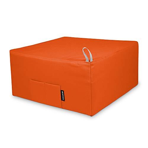 HAPPERS Puff Cama Individual para una Persona Polipiel Indoor Naranja