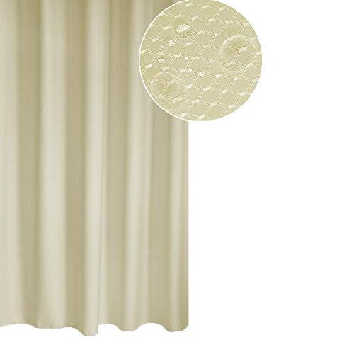 Meiosuns Duschvorhang oder Liner Polyestergewebe Duschvorhänge Waschbare Vorhangfolie Mold & Mildew Resistant mit weißen Kunststoffhaken, extra verdicken, (200 * 220cm,  Aprikose)
