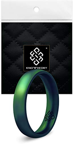 Knot Theory Enchanted Green Comfort Fit Silicone Ring for Women 4mm Size 6